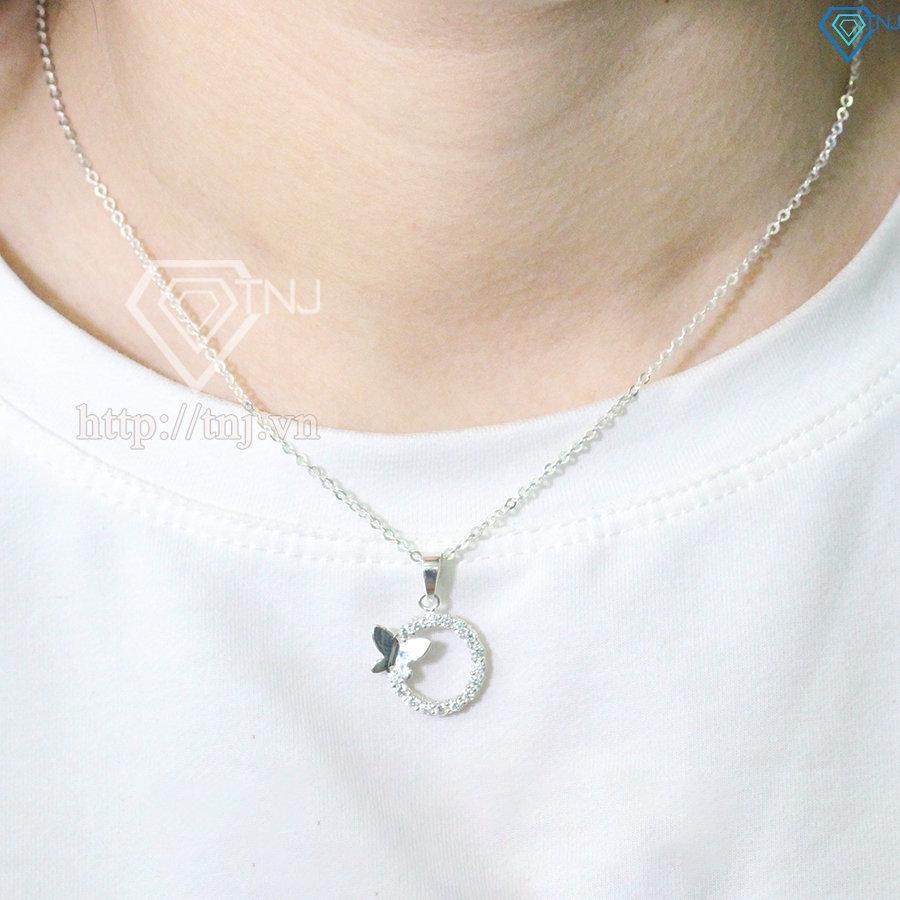dây chuyền bạc nữ kiểu dáng cánh bướm DCN0338