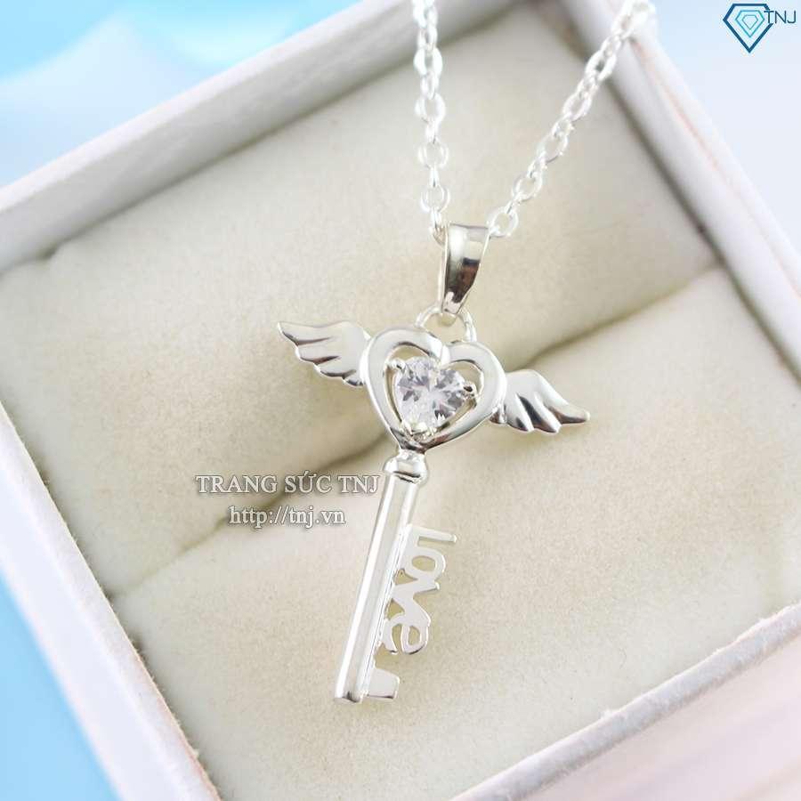 dây chuyền bạc nữ mặt chìa khóa thiên thần DCN0214
