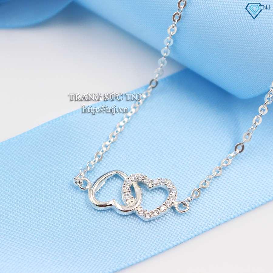 dây chuyền bạc nữ mặt trái tim  ND0223