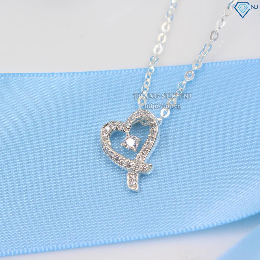 Dây chuyền bạc nữ mặt trái tim DCN0234