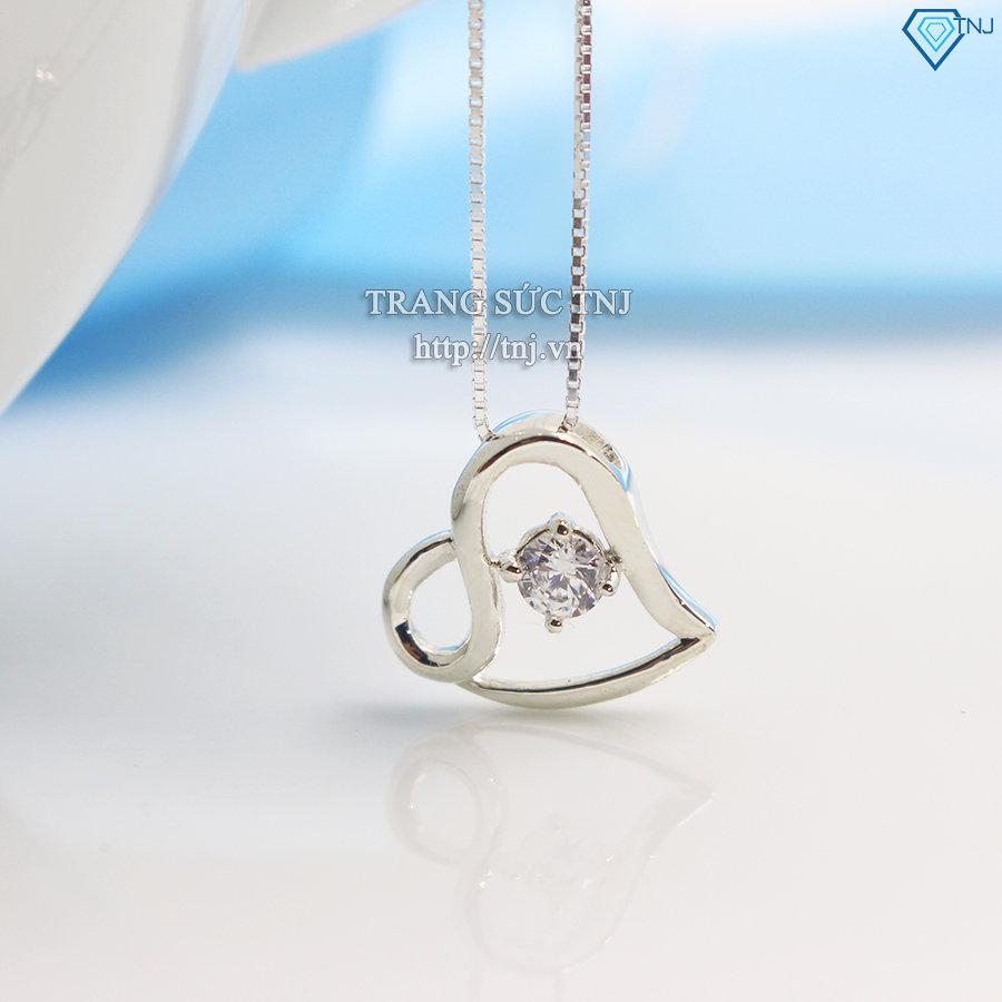 Dây chuyền bạc nữ mặt trái tim DCN0241