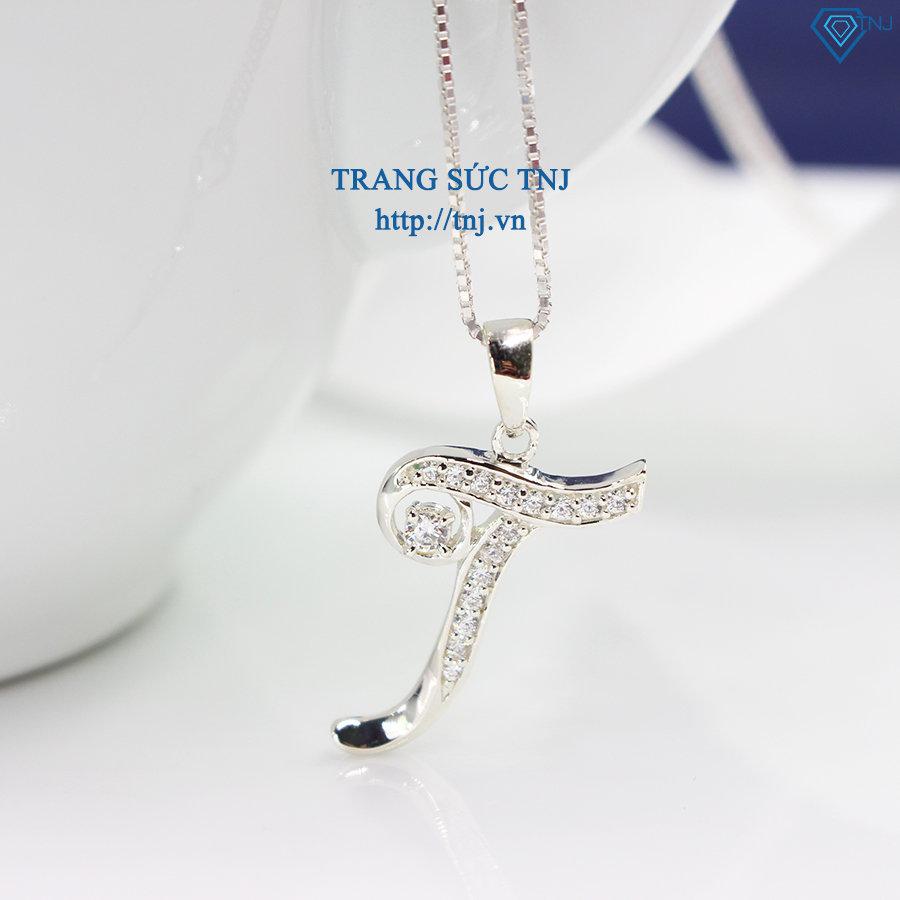 Mặt dây chuyền chữ T đính đá đẹp DCN0250