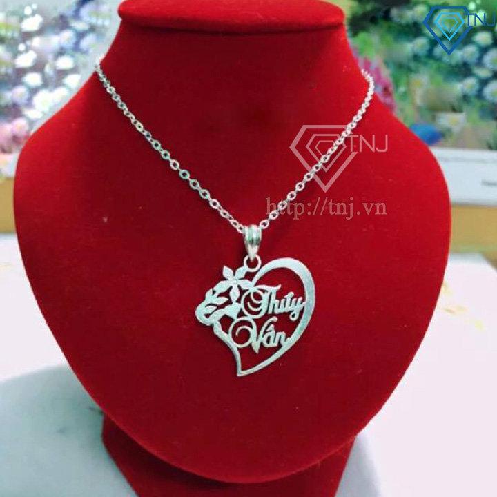 Dây chuyền mặt chữ hình trái tim DCC0013