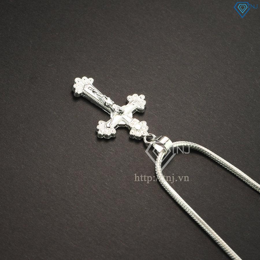 Dây chuyền bạc nam mặt thánh giá nhỏ DCA0028