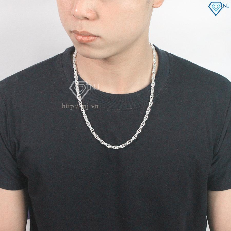 Dây chuyền bạc nam Hà Nội dạng xoắn DCK0002