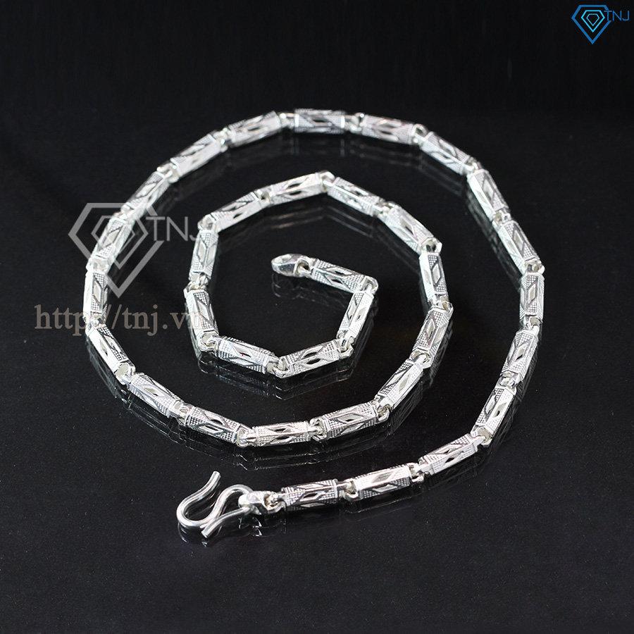 Dây chuyền bạc nam dạng ống nam tính DCK0004