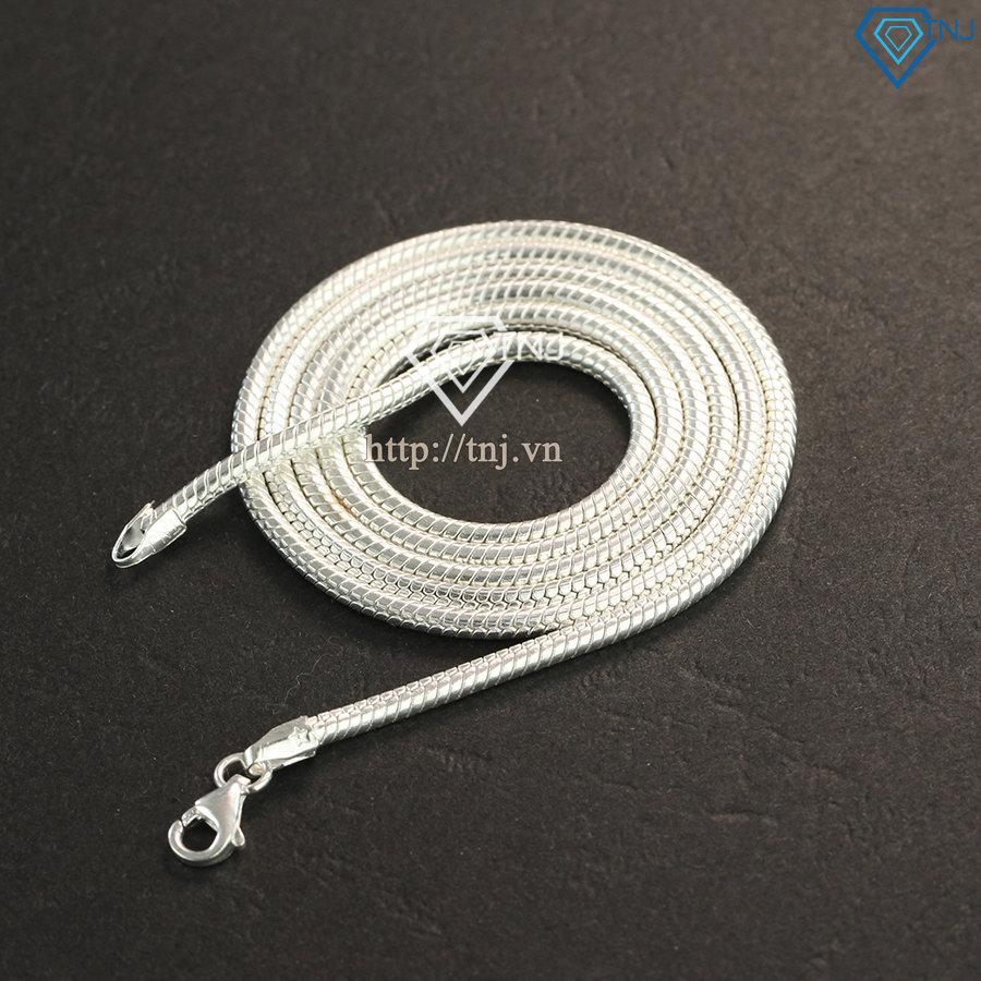 Dây chuyền bạc nam sợi nhỏ tròn trơn DCK0007