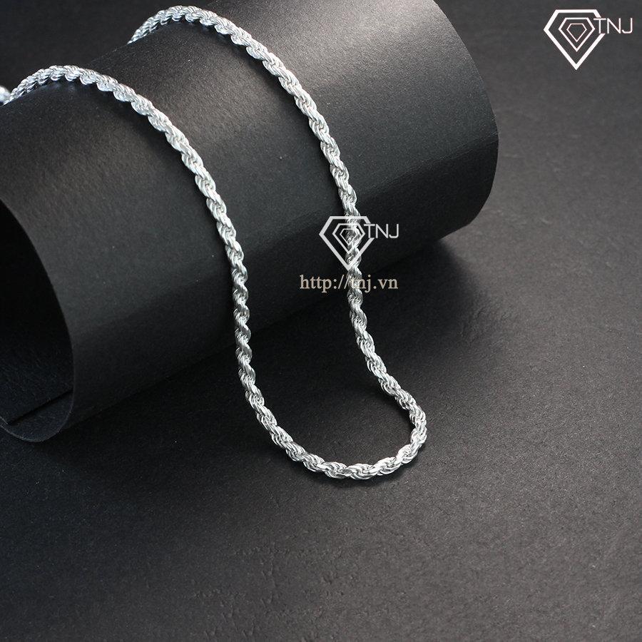 Dây chuyền bạc 925 nam dạng xoắn giá rẻ DCK0009