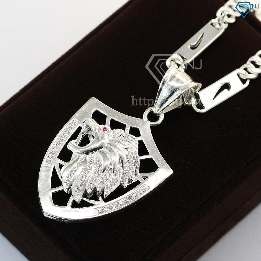 dây chuyền bạc nam mặt hình sư tử DCA0002