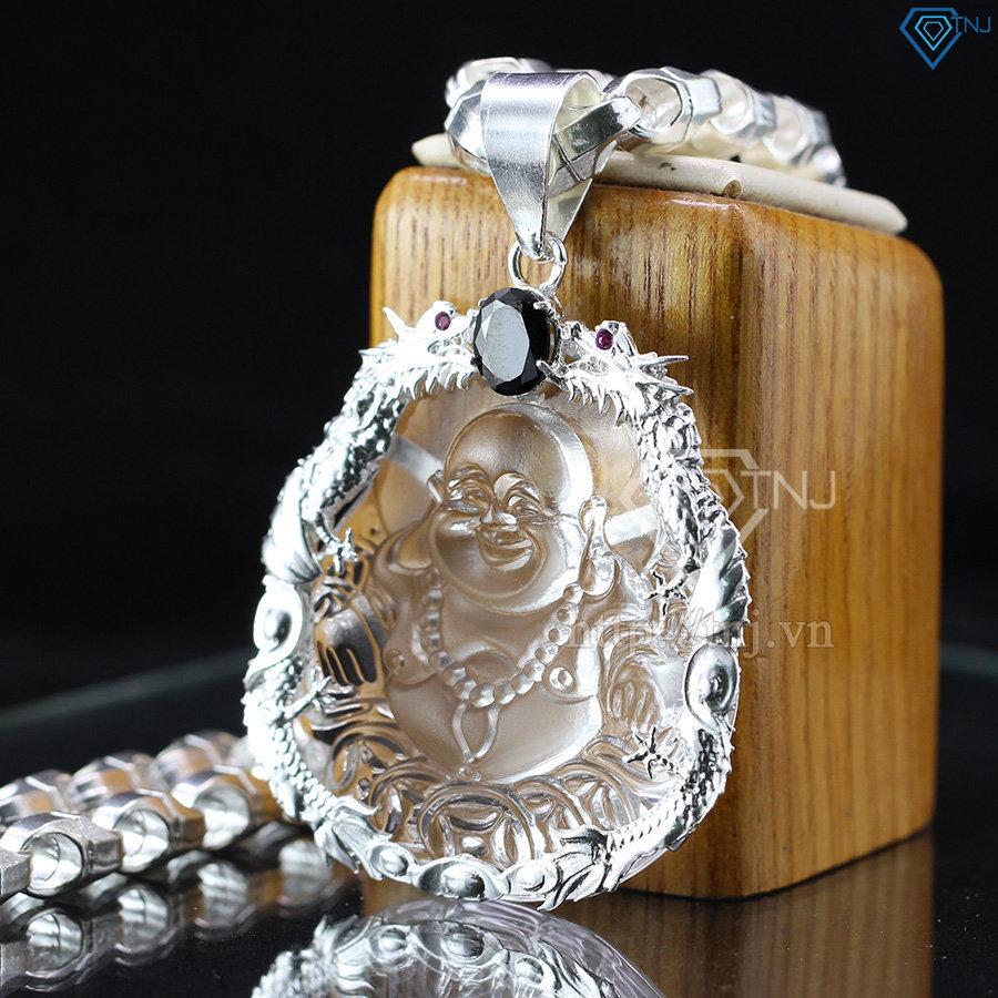 Dây chuyền bạc nam mặt Phật Di Lặc cho mệnh kim DCA0008