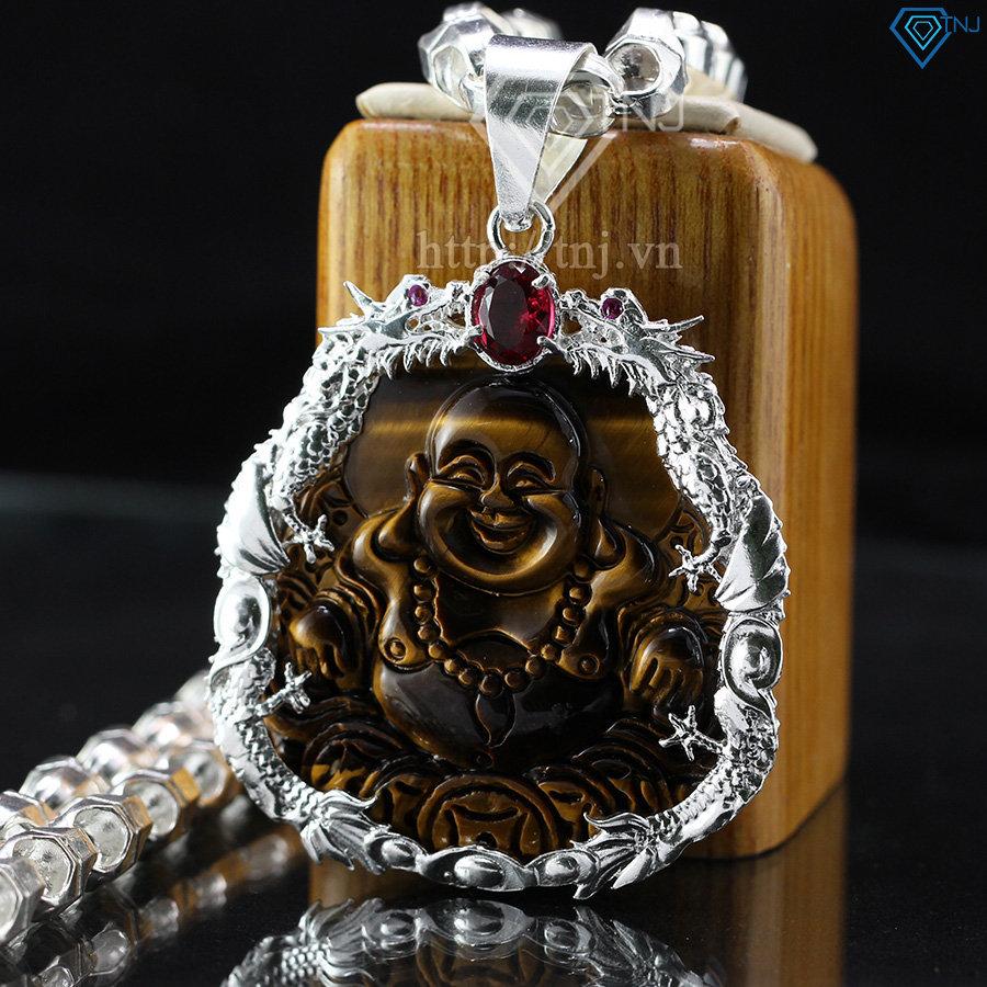 Dây chuyền bạc nam mặt Phật Di Lặc cho mệnh thổ DCA0008