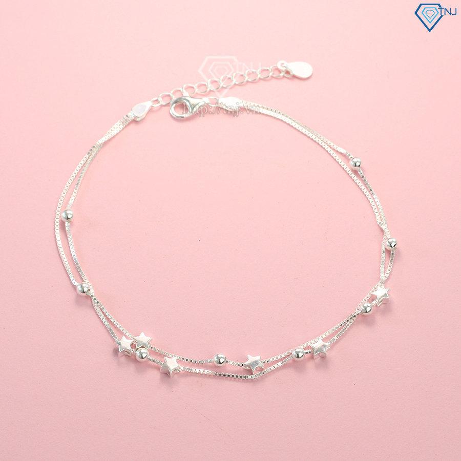 Lắc chân bạc nữ hình ngôi sao nhỏ LCN0023