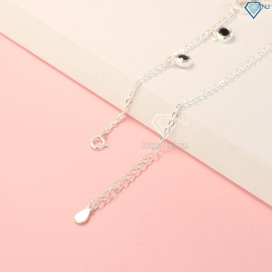 Lắc chân nữ bạc vô cực đính đá đẹp LCN0058