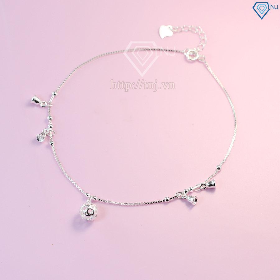 lắc chân bạc nữ đẹp họa tiết chuông LCN0039