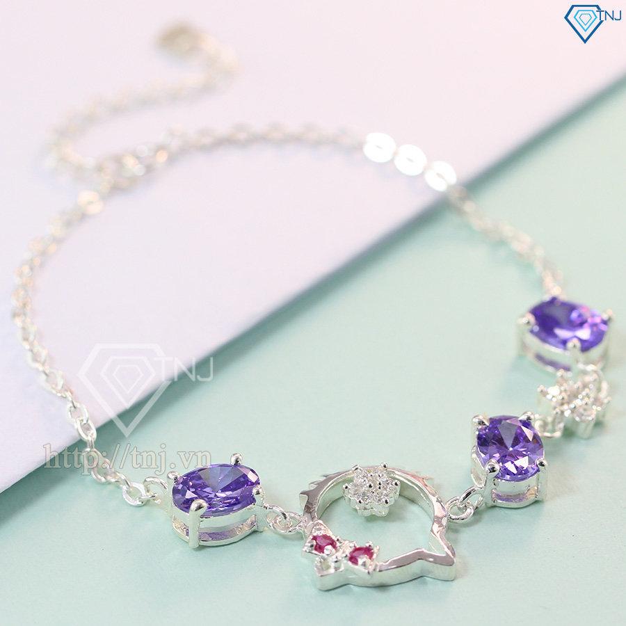 Lắc tay bạc nữ hình mèo hello kitty dễ thương LTN0089