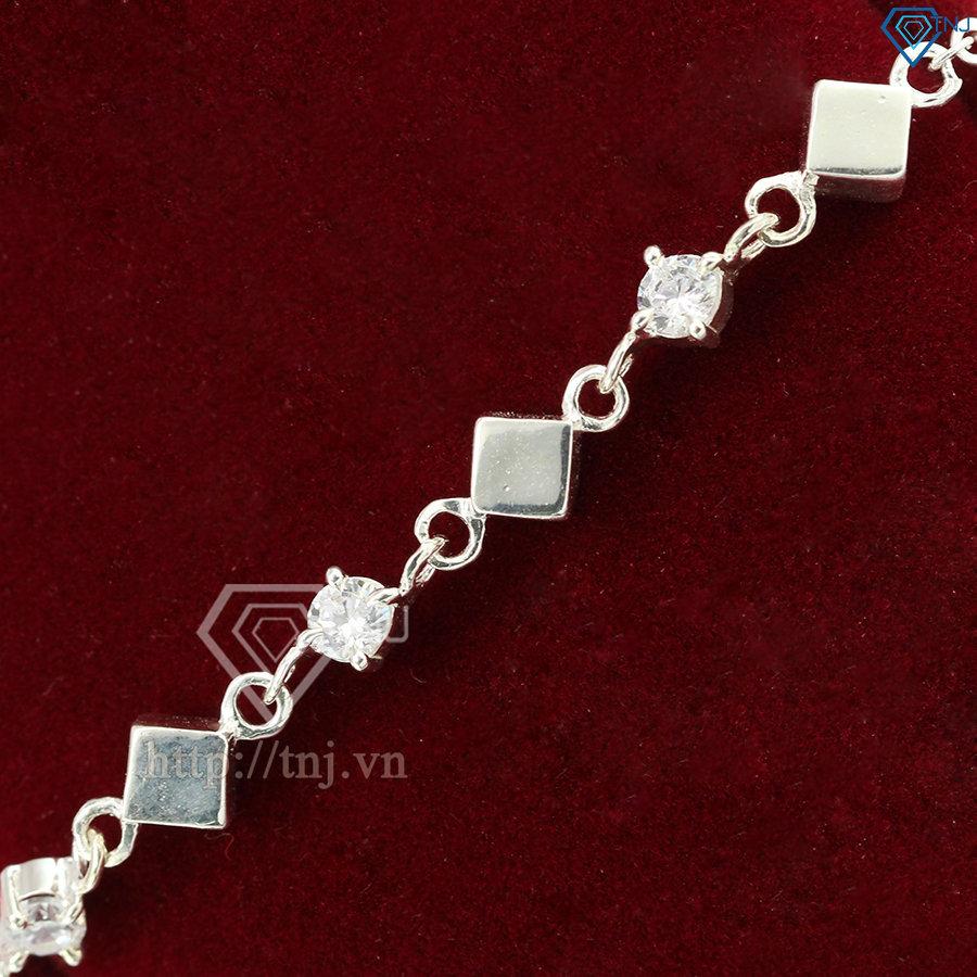 Lắc tay bạc nữ lập phương tinh tế LTN0106