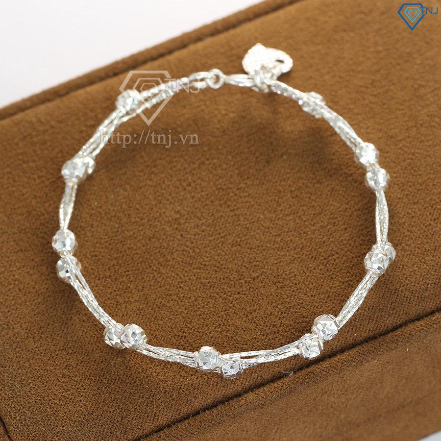Lắc tay kiềng bạc nữ đẹp LTN0119