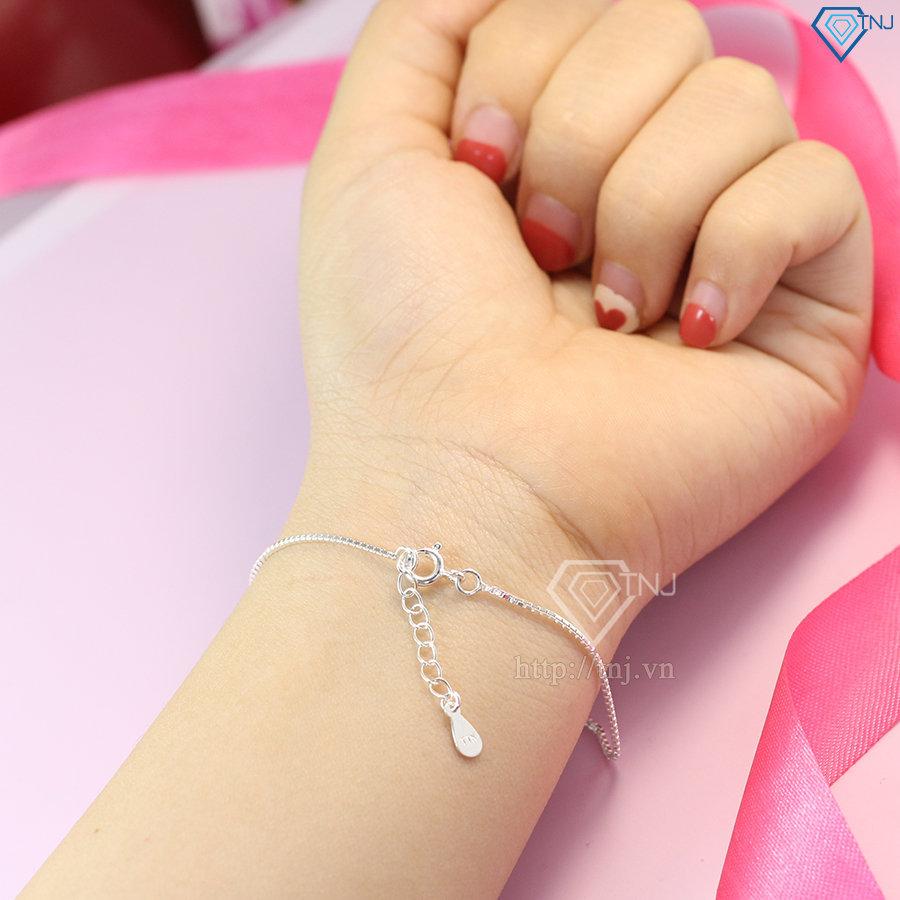lắc tay bạc nữ hậu duệ mặt trời LTN0131