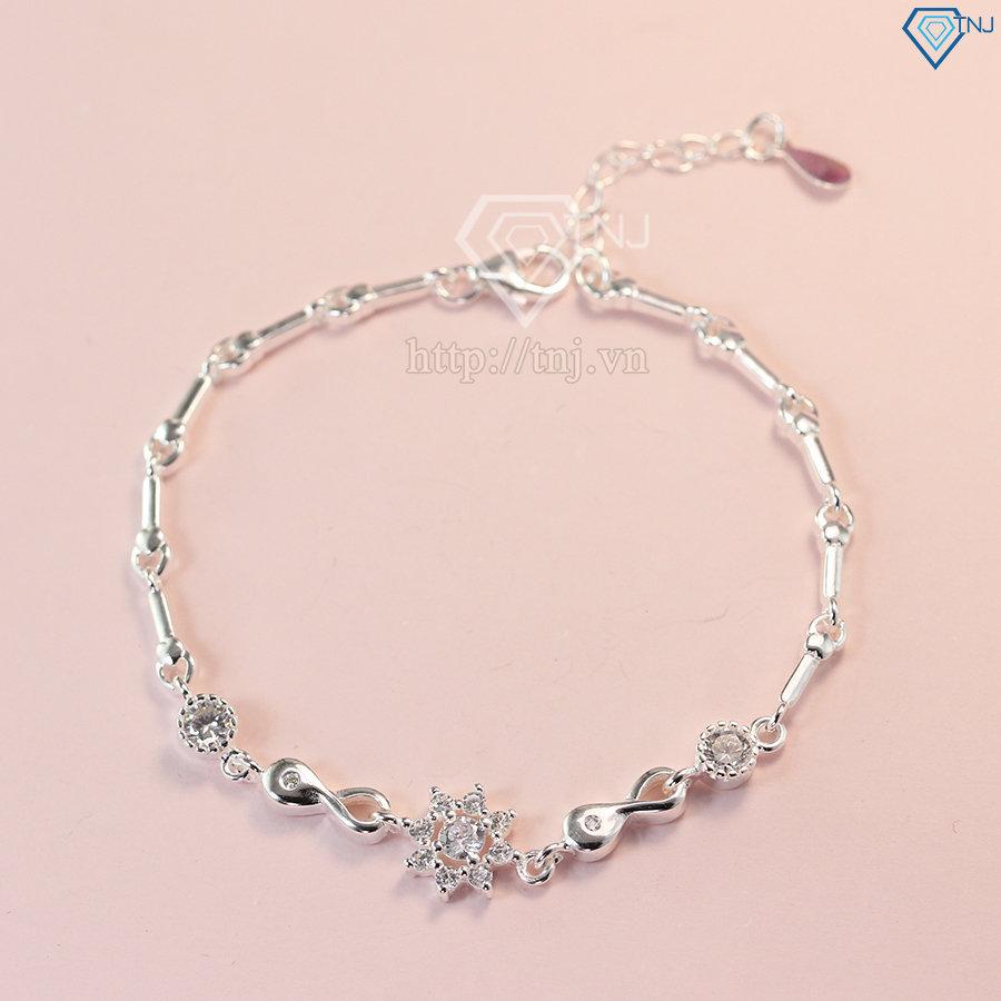 lắc tay bạc nữ đính đá đẹp LTN0132