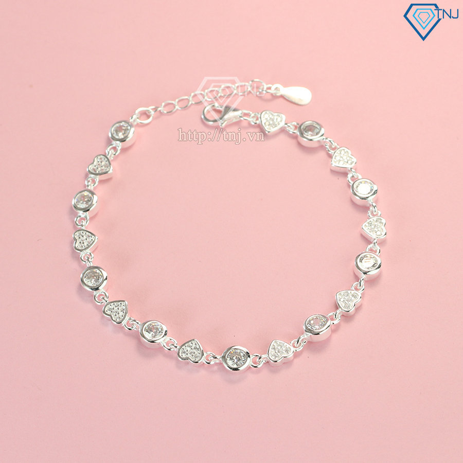 Lắc tay nữ bạc 925 hình trái tim LTN0136