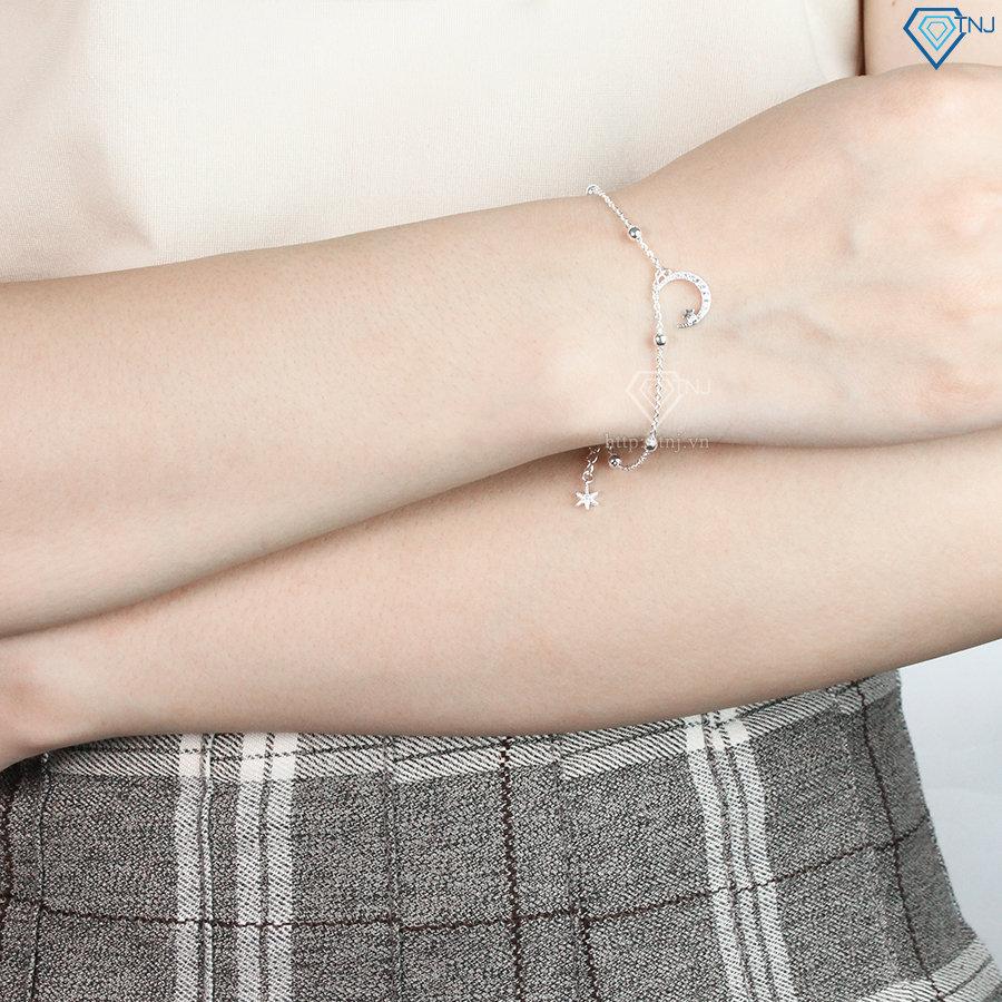 Lắc tay bạc nữ hình trăng sao đẹp LTN0141