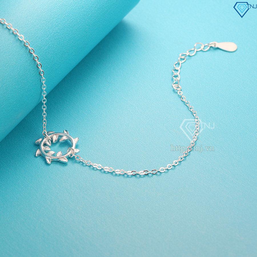 Lắc tay bạc nữ Vòng Nguyệt Quế đẹp LTN0144