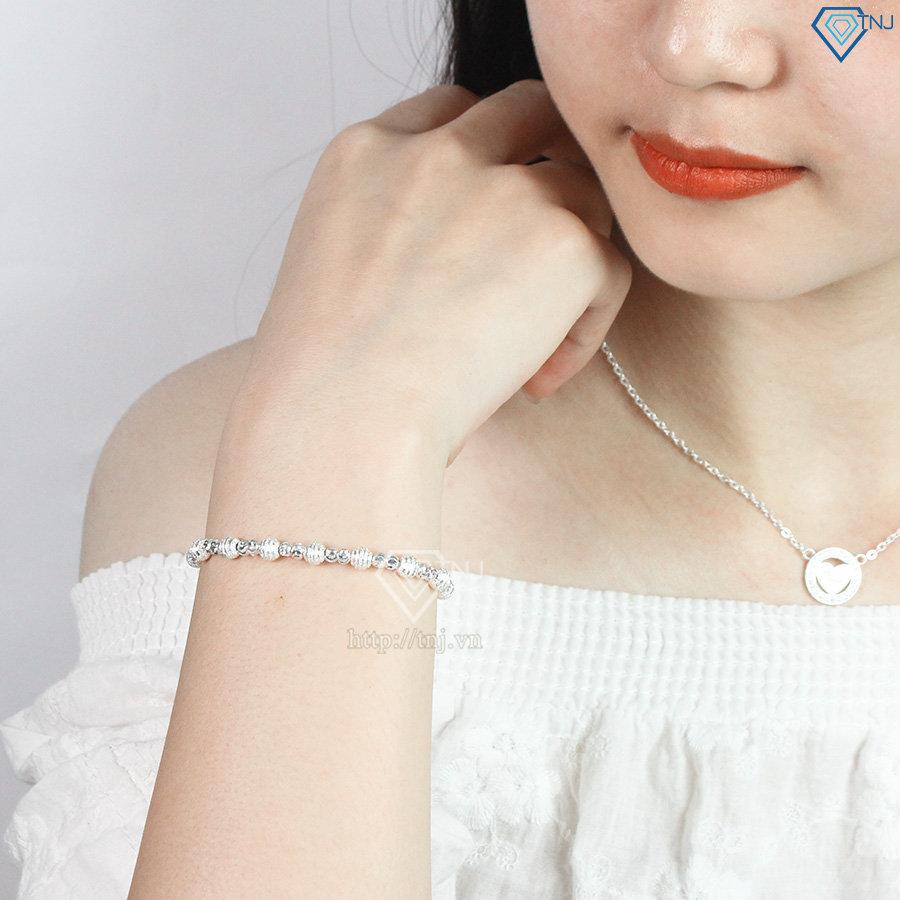 Lắc tay bi bạc nữ độc đáo và sang trọng LTN0146