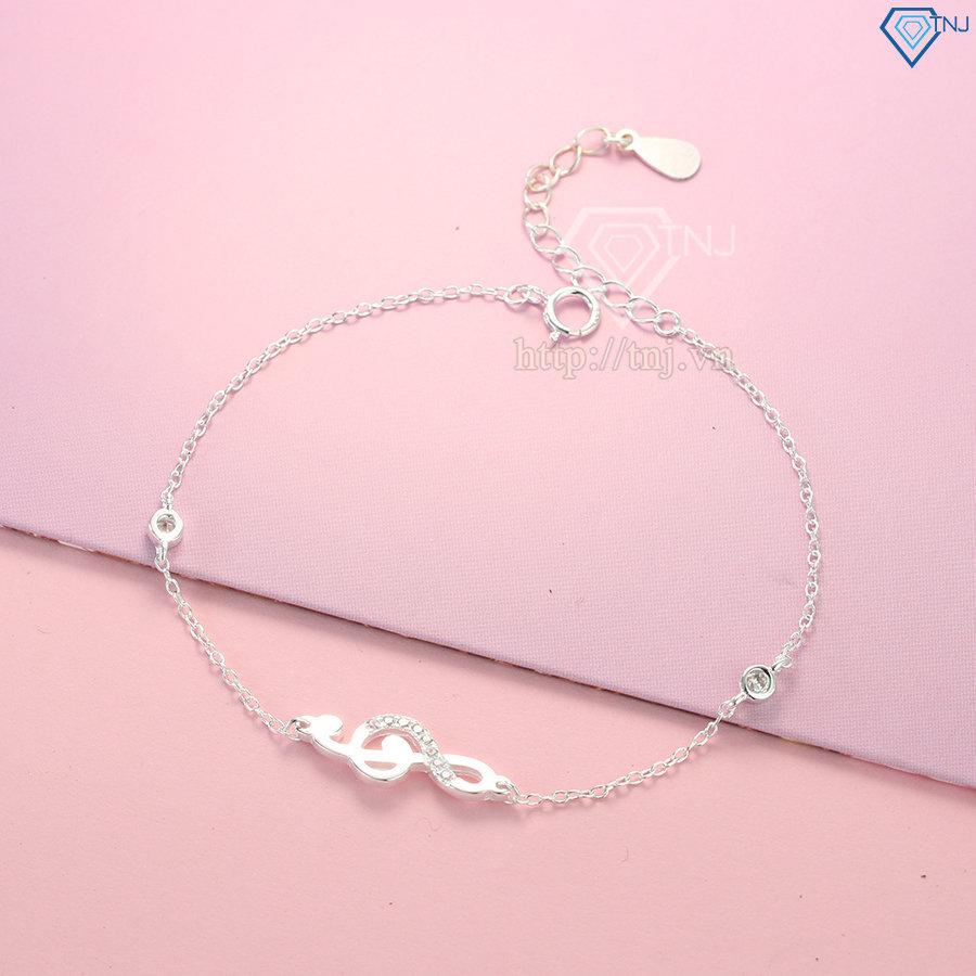 Lắc tay bạc nữ hình khóa sol đơn giản LTN0157