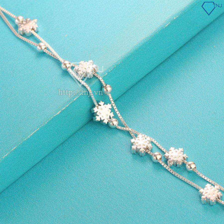 Lắc tay bạc nữ hình bông tuyết LTN0171