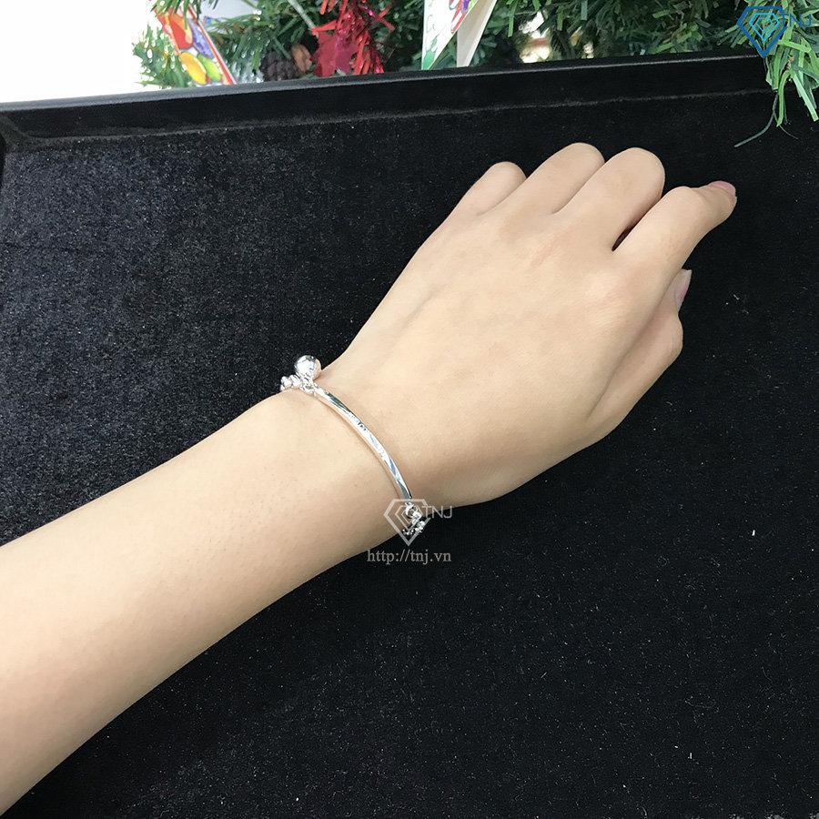 Lắc tay bạc nữ có chuông khắc tên LTN0172