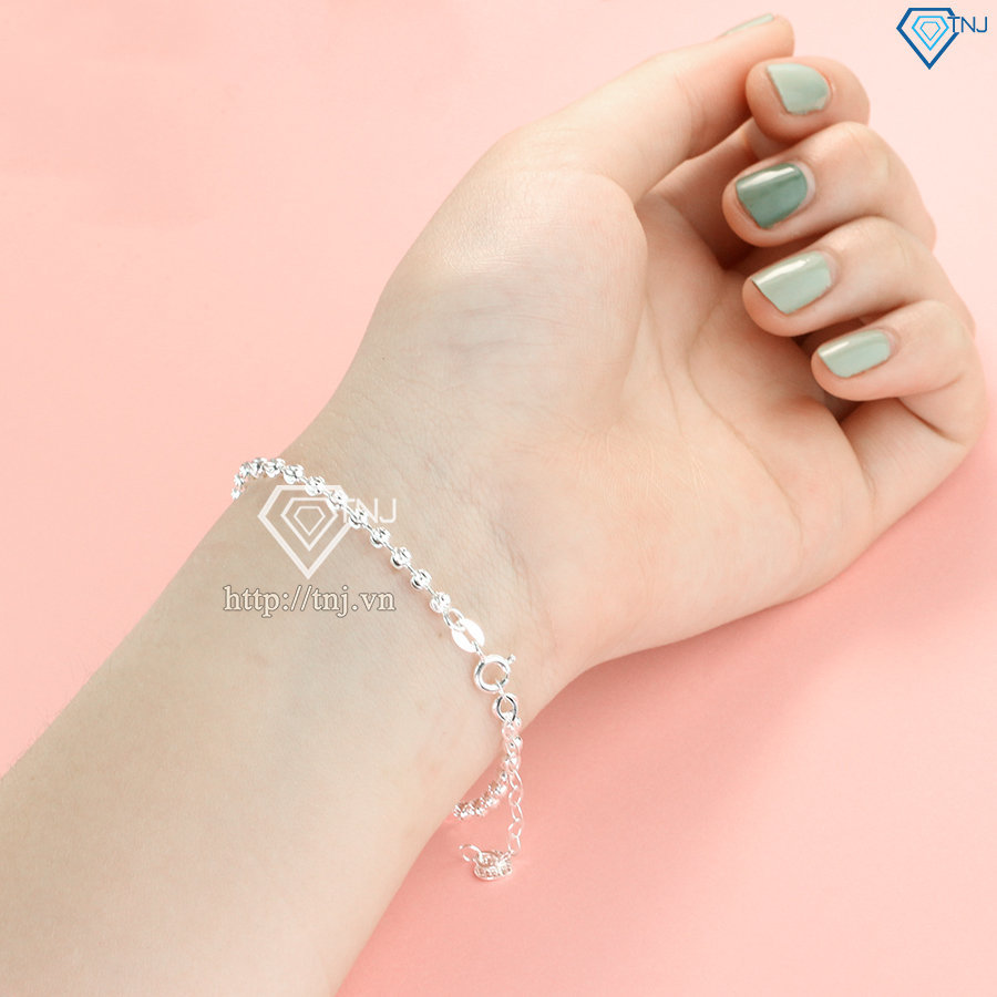 Lắc tay bi bạc dành cho nữ sang trọng LTN0177