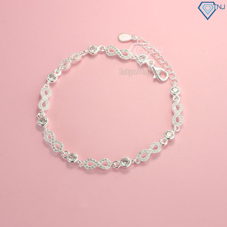 Lắc tay bạc nữ cao cấp hình vô cực LTN0182