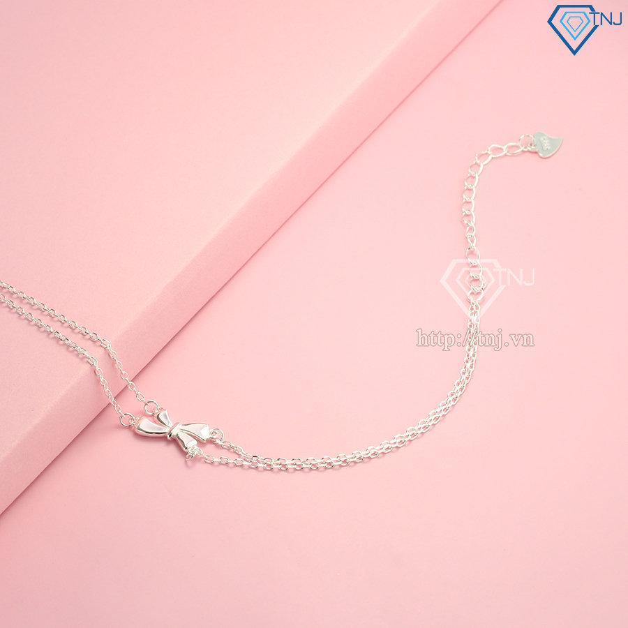 Lắc tay bạc nữ đẹp giá rẻ hình chiếc nơ LTN0183