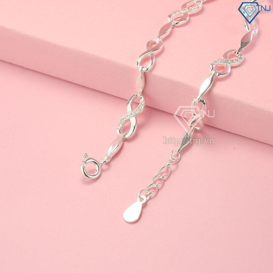 Lắc tay nữ bạc hình vô cực LTN0185