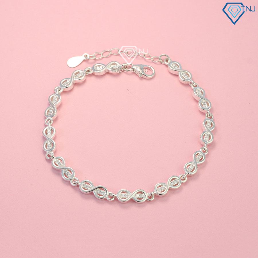 Vòng bạc đeo tay nữ hình vô cực LTN0195