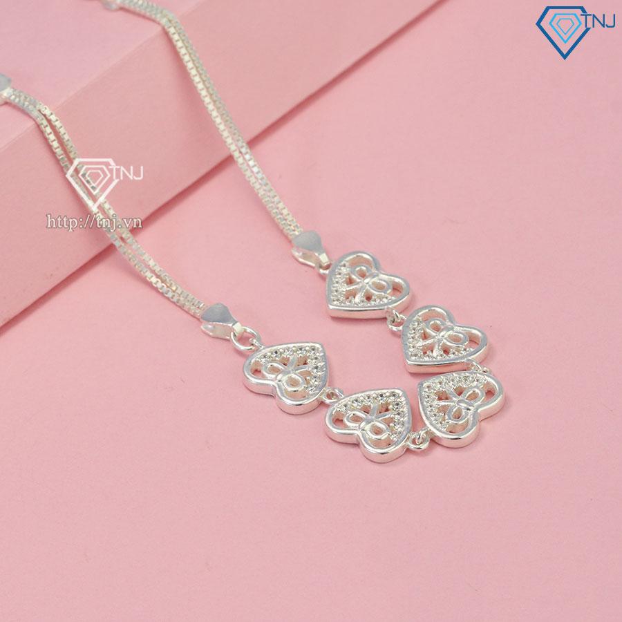Lắc tay bạc nữ đẹp hình trái tim LTN0196