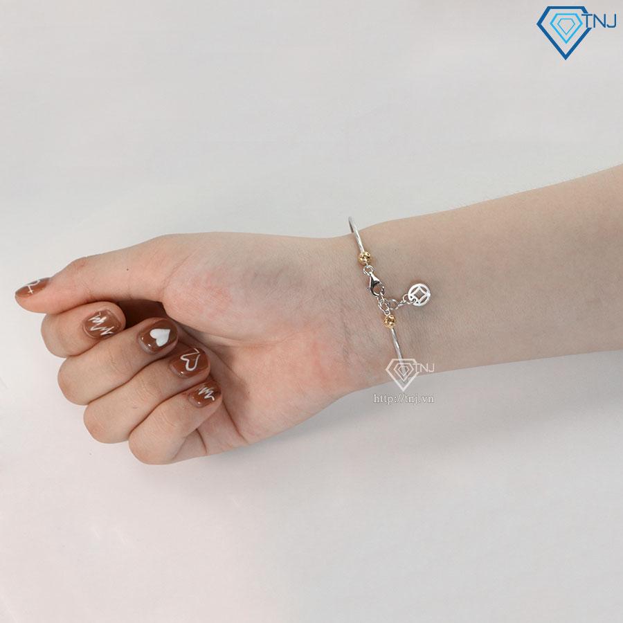 Lắc tay bạc nữ dạng kiềng đẹp LTN0201