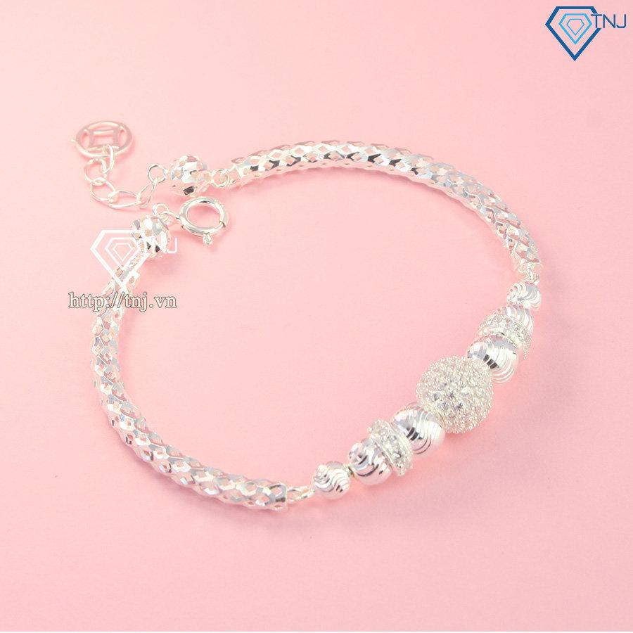 Lắc tay bạc nữ cao cấp hình trái châu LTN0202