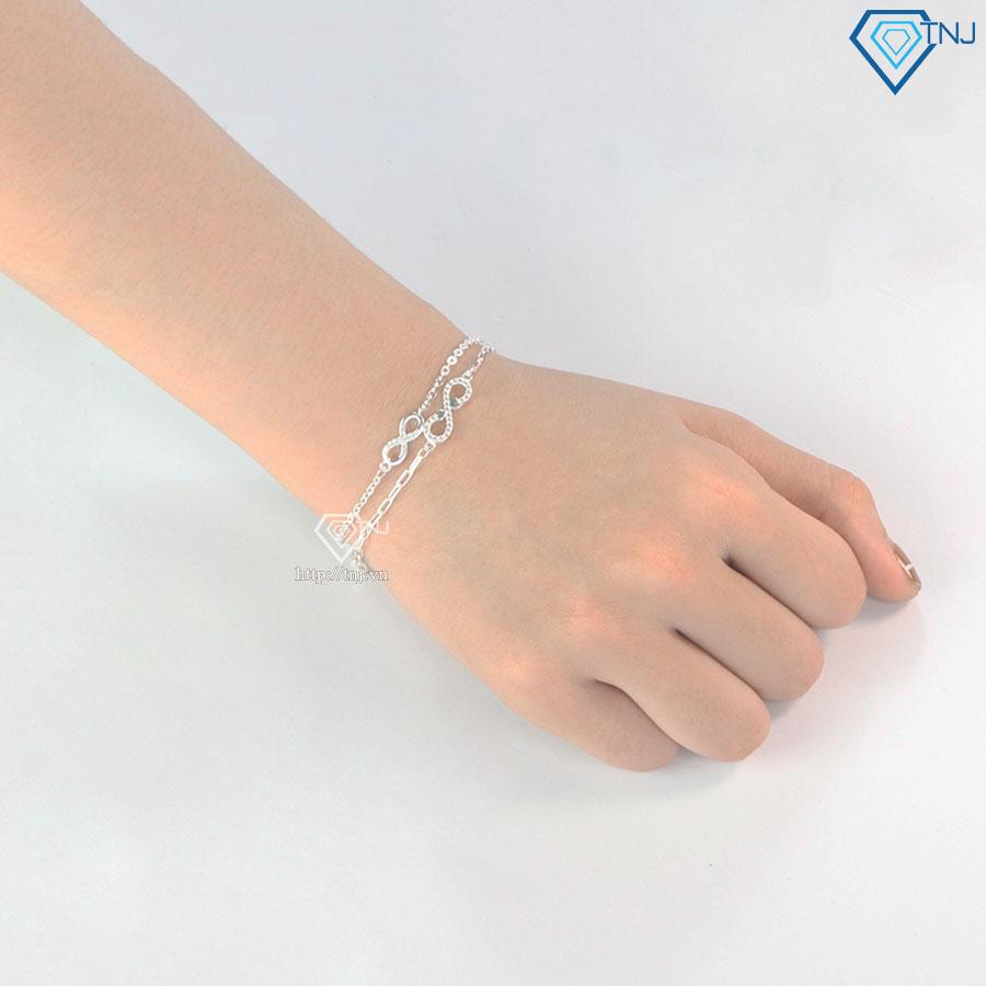 Vòng bạc nữ đeo tay hình vô cực LTN0207