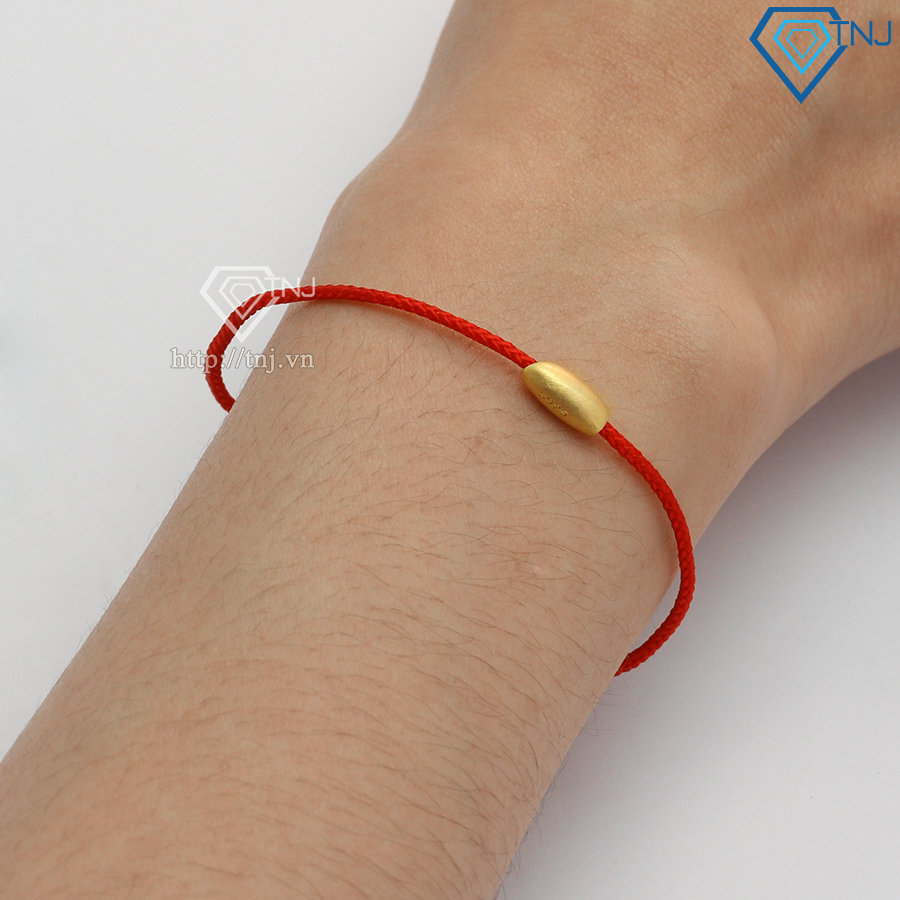 Vòng tay may mắn hạt gạo vàng LTN0218