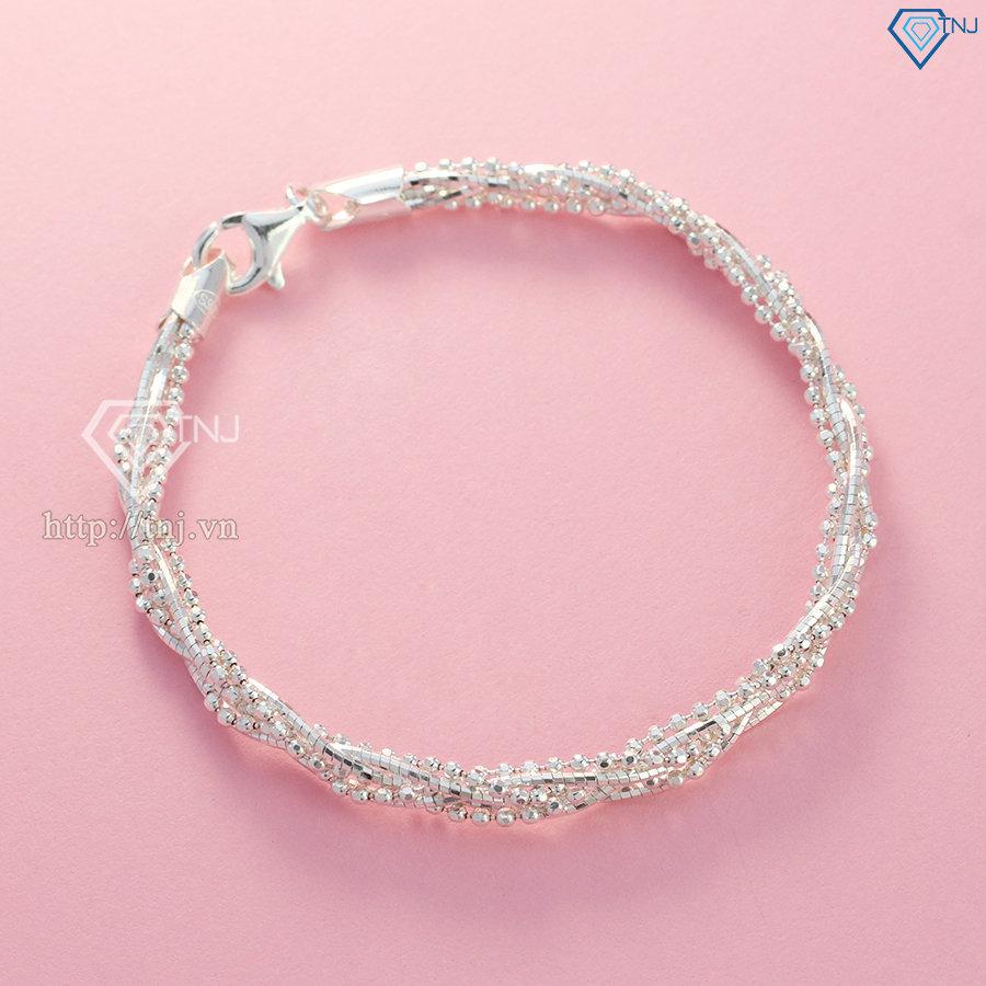 Lắc tay bạc nữ cá tính LTN0223