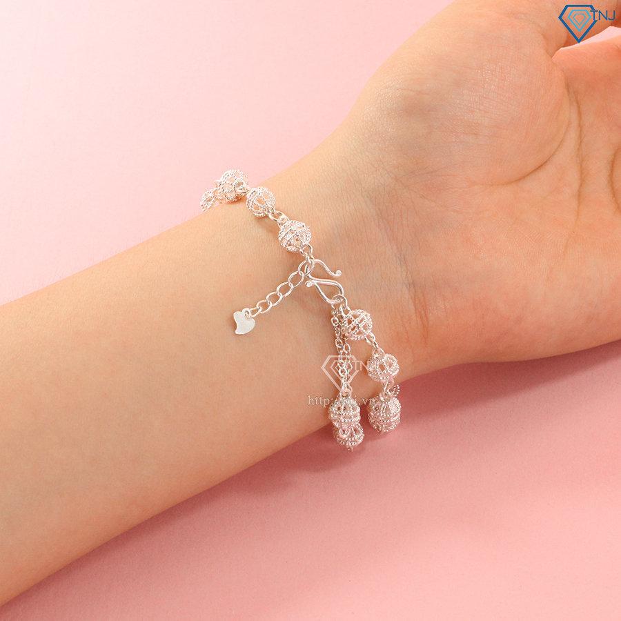 Lắc tay bi bạc nữ đẹp LTN0250