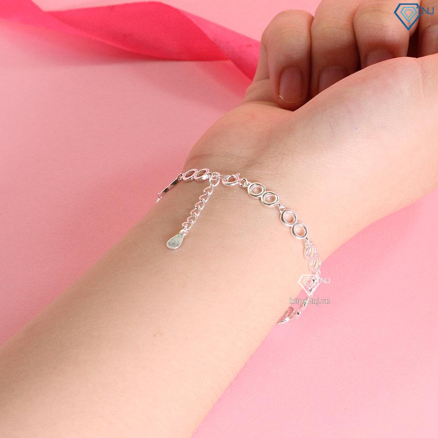 Vòng bạc nữ đeo tay hình vô cực LTN0251