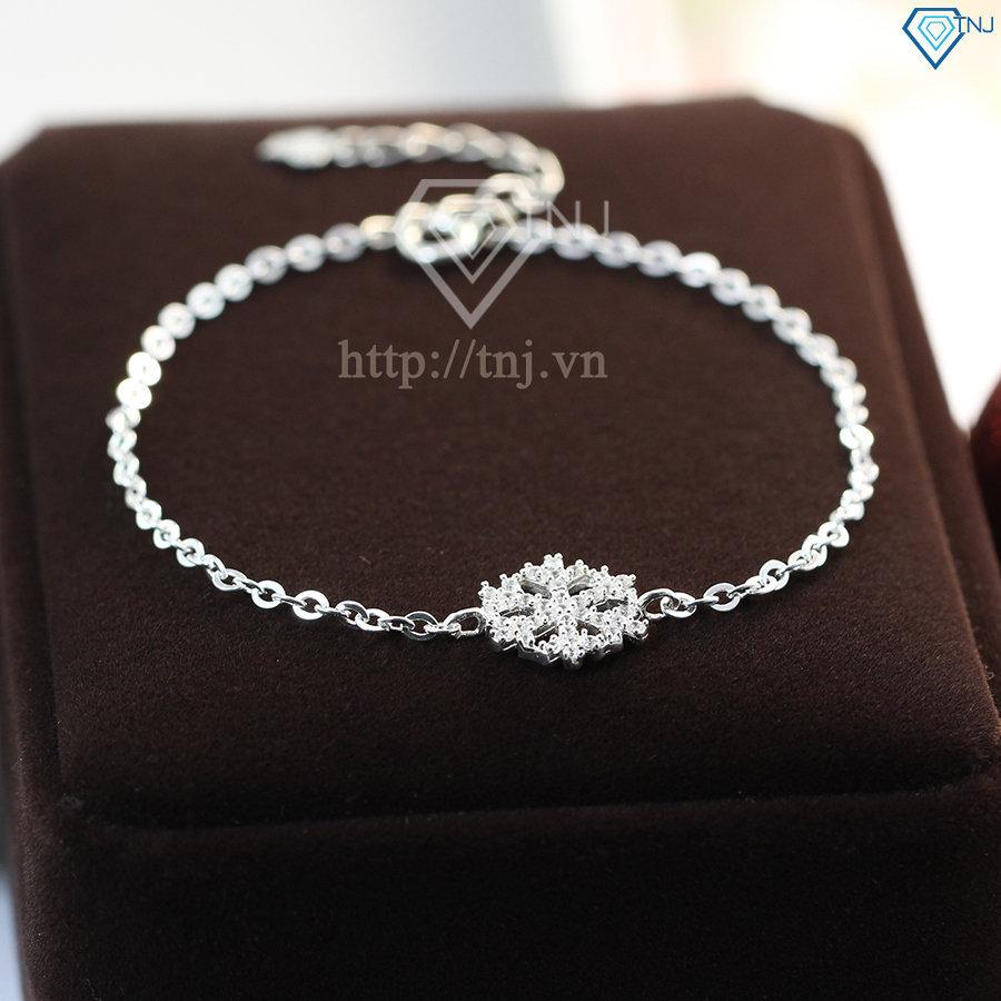 Lắc tay bạc nữ kiểu dáng bông tuyết LTN0114