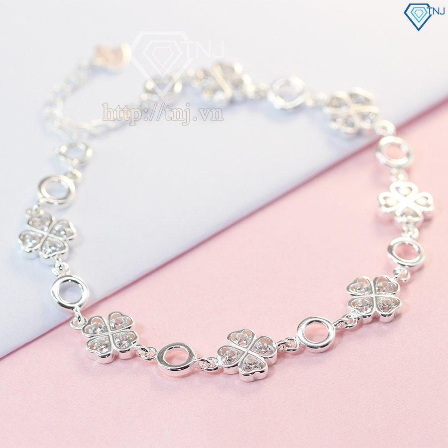 Lắc tay bạc  nữ cỏ 4 lá đẹp LTN0109