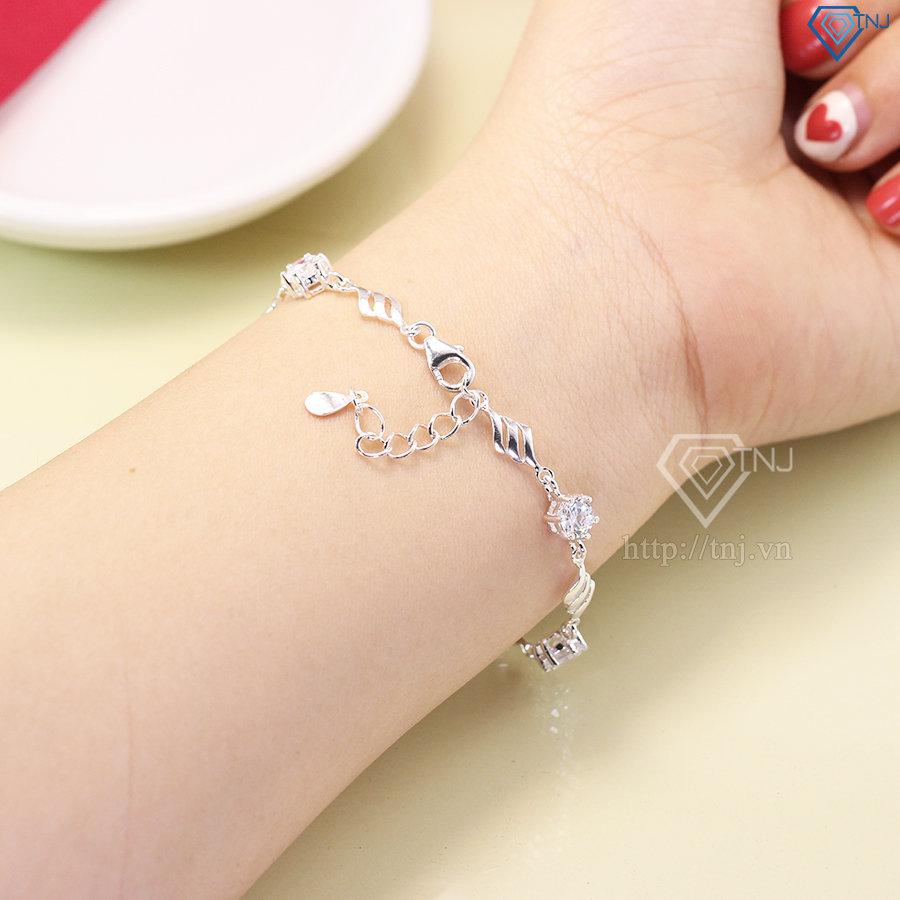 Lắc tay bạc nữ đẹp đính đá LTN0123