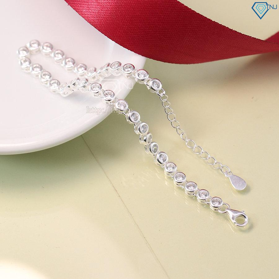 Lắc tay bạc nữ đẹp đính đá LTN0124