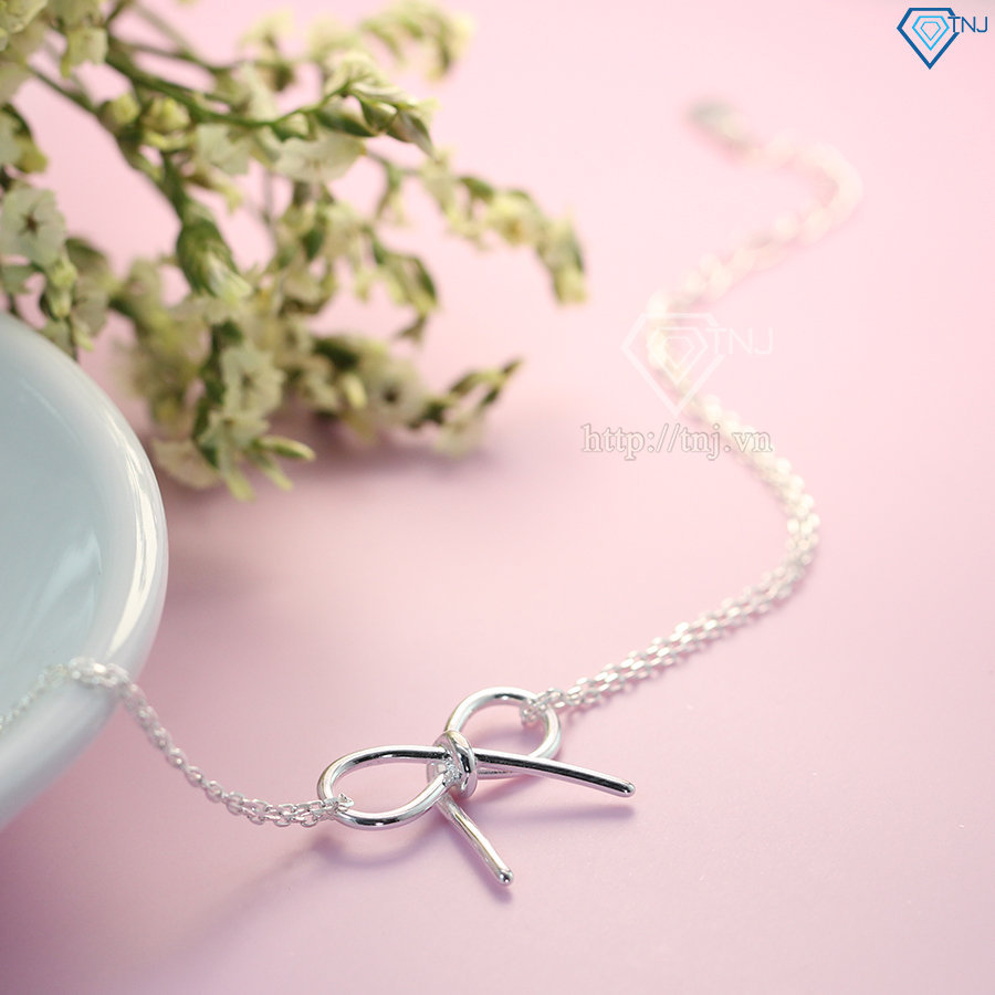 lắc tay bạc nữ hình vô cực đơn giản đẹp LTN0129