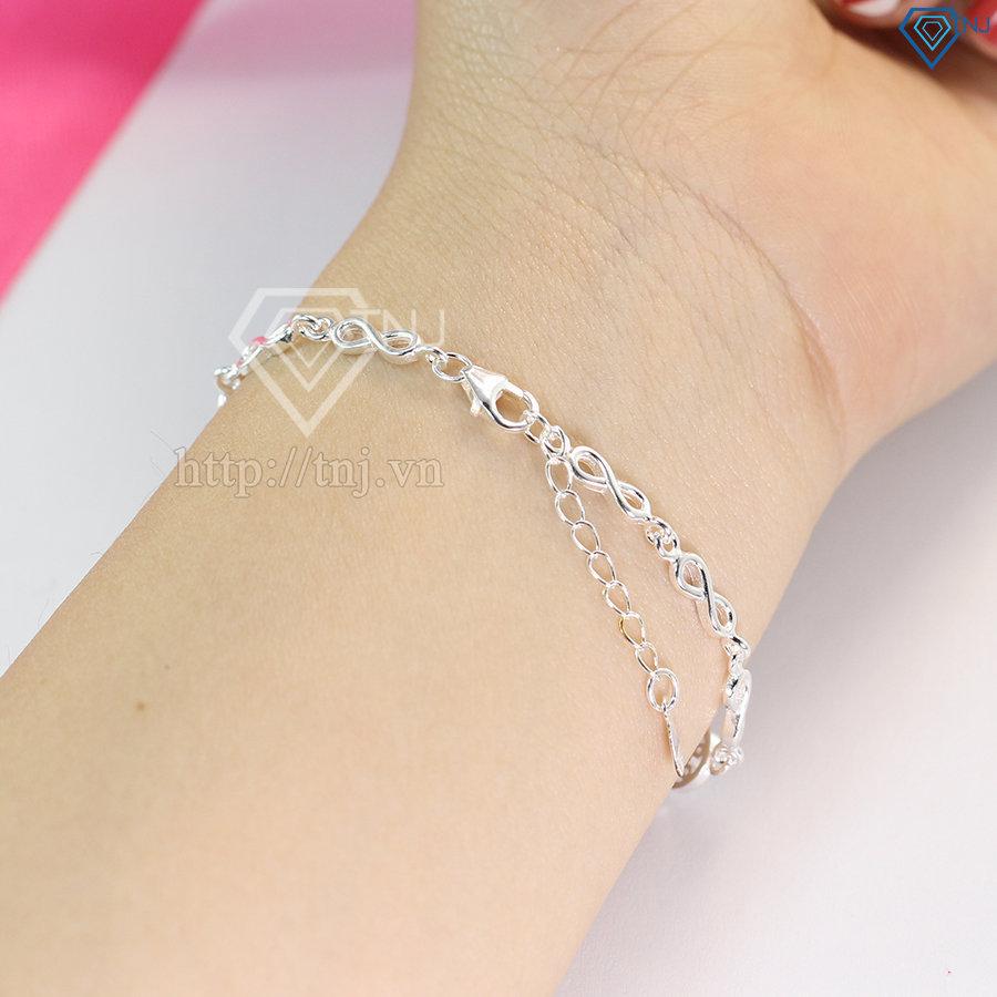 lắc tay bạc nữ hình vô cực đẹp LTN0127