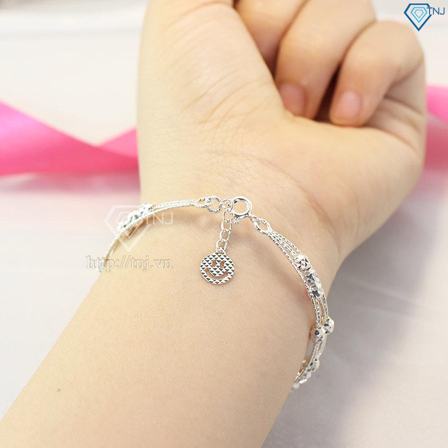 Lắc tay kiềng bạc nữ đẹp LTN0118